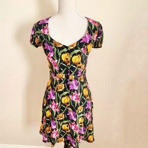 Topshop Floral Mini Dress